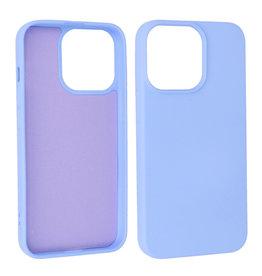 iPhone 13 Pro Hoesje Fashion Backcover Telefoonhoesje Paars