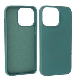 iPhone 13 Pro Hoesje Fashion Backcover Telefoonhoesje Donker Groen
