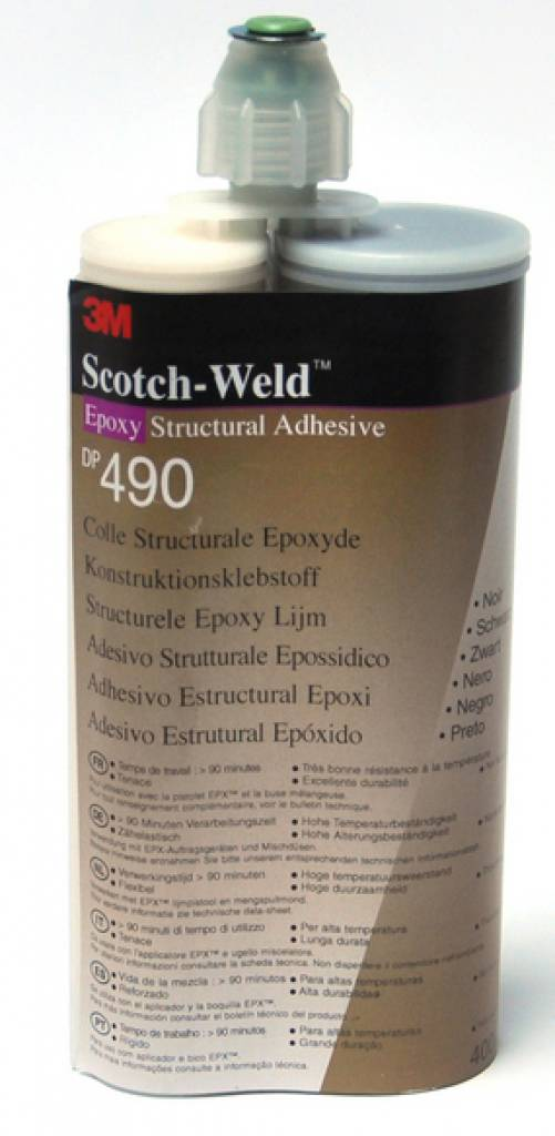 3M Epoxy lijm scotch weld set 400ml zwart DP490-L400