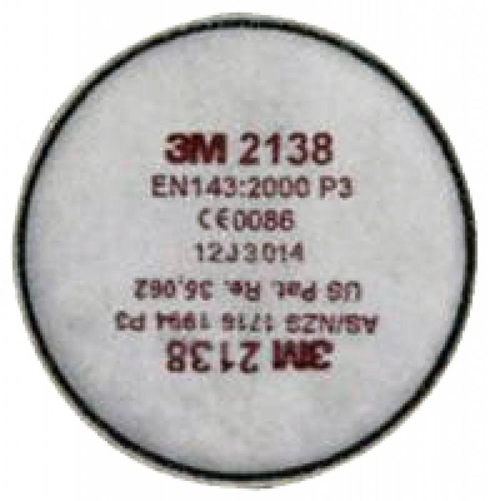 3M Stoffilter & organisch.damp rond P3 2138 per paar