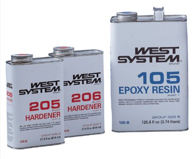West System 105 B Pack 6kg 205/206 harder