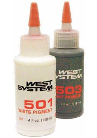 West System 500 Pigment wit/zwart/blauw/grijs 125gr