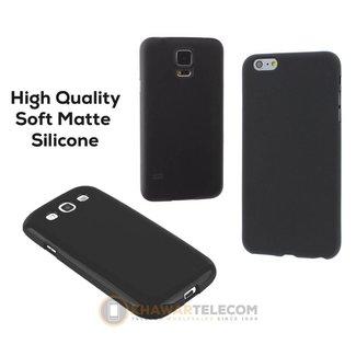 Premium Matte Black Silicone Case LG K5