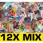12X Mix Baskı Kitap Galaxy S6 Kenar G925 için Kapakları