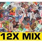 12X Mix Print Book Cover til Galaxy S6 Edge G925