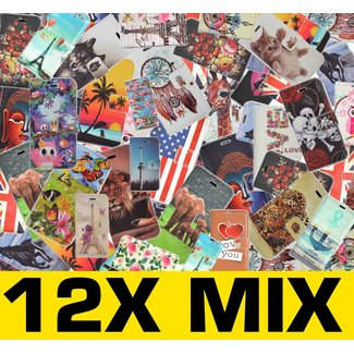 12x Mix Print Boek Hoesjes voor Galaxy A7/A700F