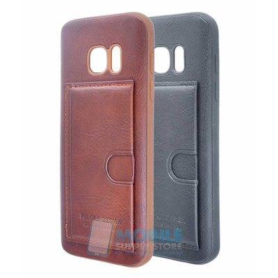 Puloka Genuine Leather Card Back Cover Galaxy S9 Plus