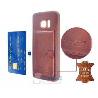 Puloka Genuine Leather Back cover for Galaxy S9 Plus