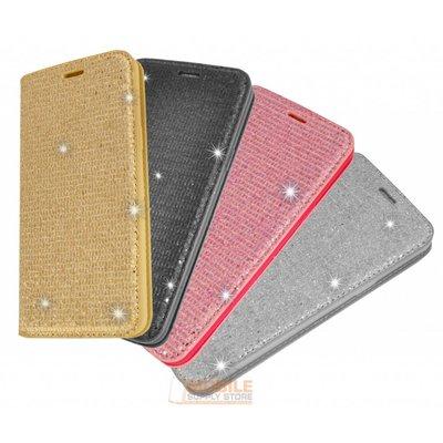 Samsung Galaxy S8 Plus için Lady Glitter Kitap Kılıfı