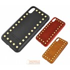 Puloka Spikes Leather Back Cover for IPhone X