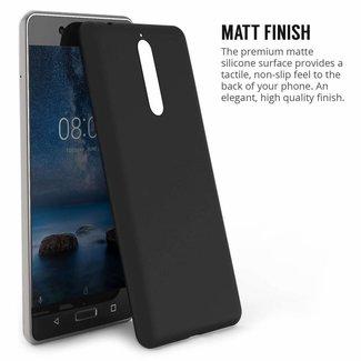 Premium Matte Black Silikonhülle Nokia 2