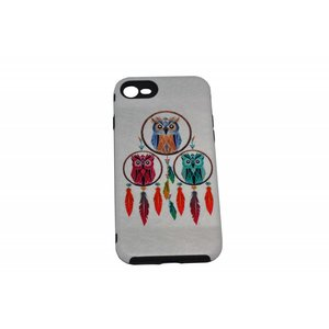 Dreamcatcher Owl Print Case Hårdt Bag Cover