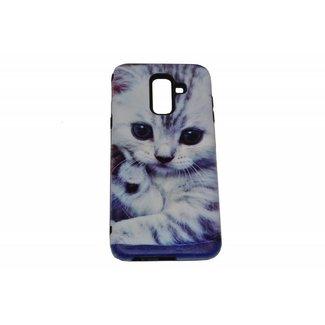 Cute Cat Print Hard Back Cover