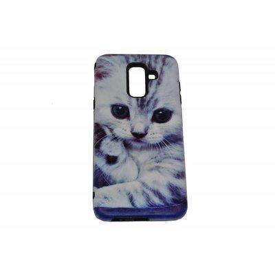 Cute Cat Print Hard Back Case Cover