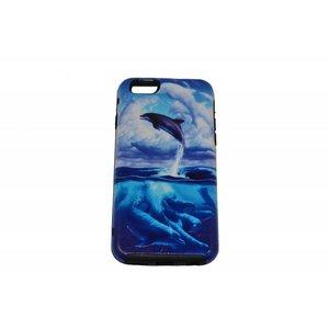 Jumping Dolphin Print Case Hårdt Bag Cover