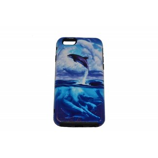 Jumping Dolphin Print Hard Back cover