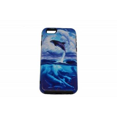 Jumping Dolphin Print Case Rückseite hart