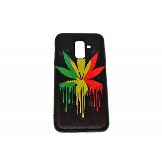 Colorful Leaf Print Back cover