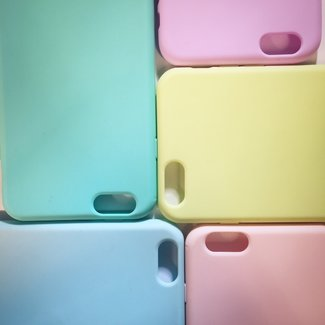 Candy Color Matte Silicone Achterkanthoesje IPhone 6 Plus/6S Plus