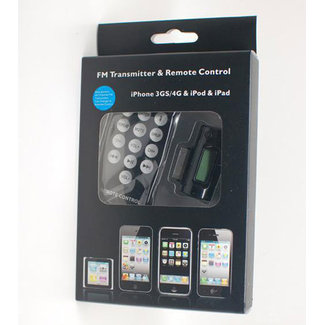 FM Transmitter (3 in 1) + Remote Control and Car Charger for iPhone 4 / ipad