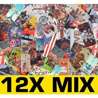 12X Mix Print Book Case Galaxy Alpha G850