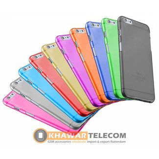 10x  Transparent Colorful Silicone Case Galaxy S6 Edge