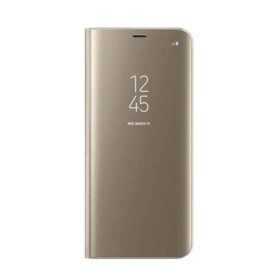 Akıllı kitap kılıfı net görünüm Galaxy S6 Kenar