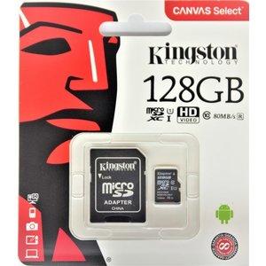 128 GB Kingston Micro SD Card Classe 10