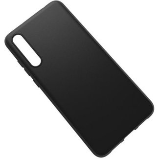 Premium Matte Black Silicone Case Huawei Honor 7A
