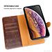 Puloka Afneembaar Puloka Apple iPhone 11 Pro Brown Genuine Leather Book case