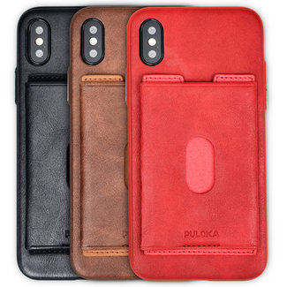 Puloka Puloka Apple iPhone X / XS TPU Rückseite Brieftasche Card Wallet