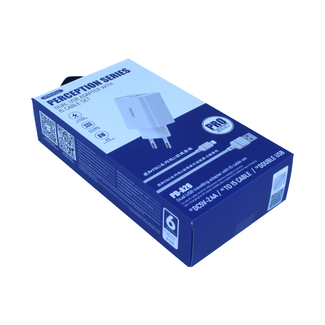 PRODA PRODA Schnellladeadapter 2 USB 2.4A - PD-A28 + iPhone Kabel
