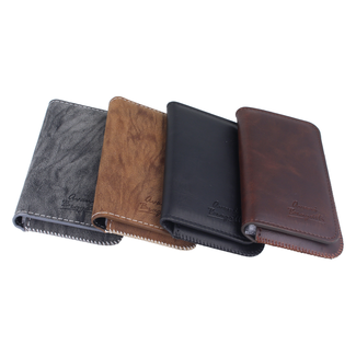 Universal high class card and phone cover in leather Size S.