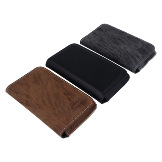 Universal high class card and phone case made of leather Size M