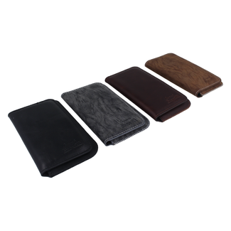 Universal high class card and phone cover in leather Size L.