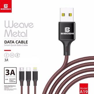 Biboshi Biboshi A19 - Weave Metal Fast Charging Cable