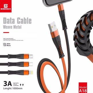 Biboshi Biboshi A18 - Weave Metal Fast Charging Cable