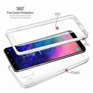 MSS Samsung Galaxy S9 Plus Transparant TPU 360° graden TPU siliconen 2 in 1 hoesje