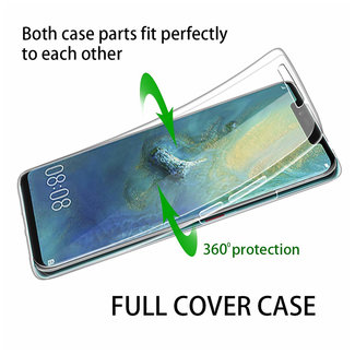 MSS Huawei Huawei Mate 20 Transparent TPU 360 ° degree TPU silicone 2 in 1 case