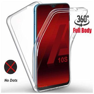 MSS Samsung Galaxy A10s Transparant TPU 360° graden TPU siliconen 2 in 1 hoesje
