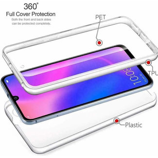 MSS Samsung Galaxy A20e Transparent TPU 360 ° degree TPU silicone 2 in 1 case