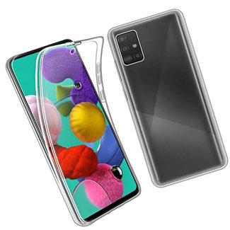 MSS Samsung Galaxy A51 Transparant TPU 360° graden TPU siliconen 2 in 1 hoesje
