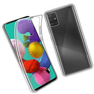 MSS Samsung Galaxy A51 Transparent TPU 360 ° TPU Silikon 2 in 1 Hülle