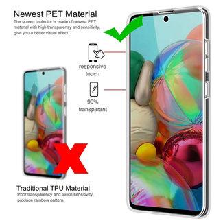 MSS Samsung Galaxy A71 Transparant TPU 360° graden TPU siliconen 2 in 1 hoesje