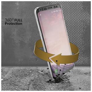 MSS Samsung Galaxy J7 Pro Transparent TPU 360 ° degree TPU silicone 2 in 1 case
