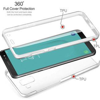MSS Samsung Galaxy J6 2018 Transparent TPU 360 ° degree TPU silicone 2 in 1 case