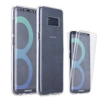 MSS Samsung Galaxy S8 Transparant TPU 360° graden TPU siliconen 2 in 1 hoesje