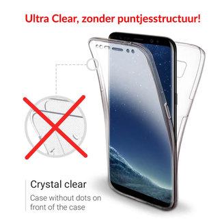 MSS Samsung Galaxy S8 Plus Transparant TPU 360° graden TPU siliconen 2 in 1 hoesje