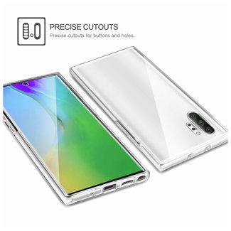 MSS Samsung Galaxy Note 10 Transparant TPU 360° graden TPU siliconen 2 in 1 hoesje