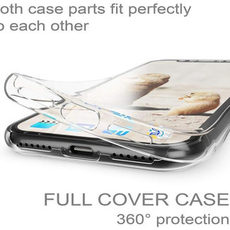 MSS Apple iPhone X/XS Transparant TPU 360° graden TPU siliconen 2 in 1 hoesje